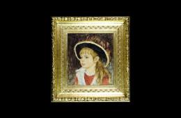 Traversari's Mosaic : Bambina con il cappello Renoir 36×41Mosaico Maestro Traversari : Bambina con il cappello Renoir 36×41