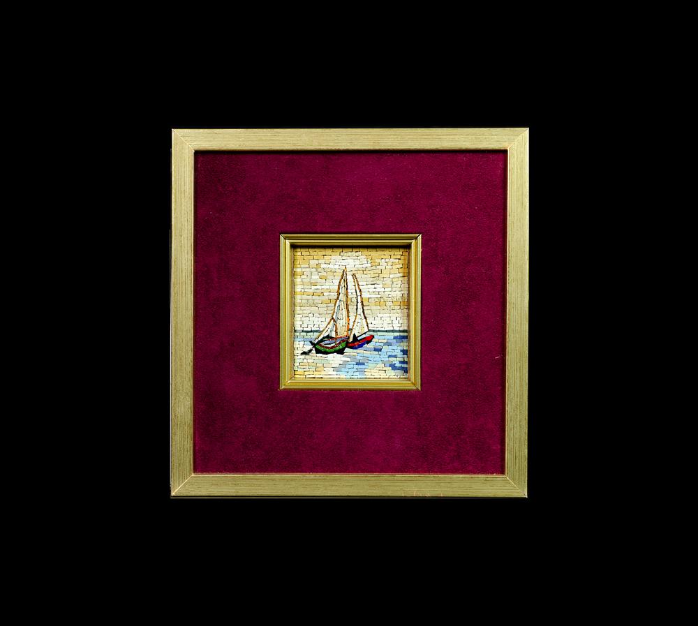 Tumminiello 39 s mosaic barca a vela 7x8mosaico maestro for Parti di una barca a vela