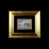 Bracalenti's Mosaic : Barche Manet 11×16Mosaico Maestro Bracalenti : Barche Manet 11×16