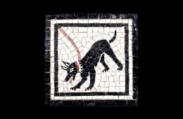 Bracalenti's Mosaic : Cave Canem 15×15Mosaico Maestro Bracalenti : Cave Canem 15×15