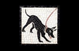 Bracalenti's Mosaic : Cave Canem 21×21Mosaico Maestro Bracalenti : Cave Canem 21×21