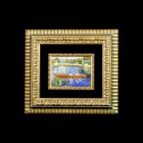 Giannocchero's Mosaic : Dame in barca Monet 22×16Mosaico Maestro Giannocchero : Dame in barca Monet 22×16