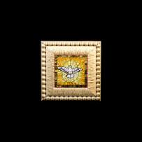 Antique Mosaics: Colomba fondo gialloMosaici Antichi: Colomba fondo giallo