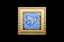Antique Mosaics: Colomba Picasso fondo azzurroMosaici Antichi: Colomba Picasso fondo azzurro
