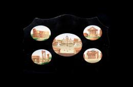 Antique Mosaics: Placca cinque monumentiMosaici Antichi: Placca cinque monumenti